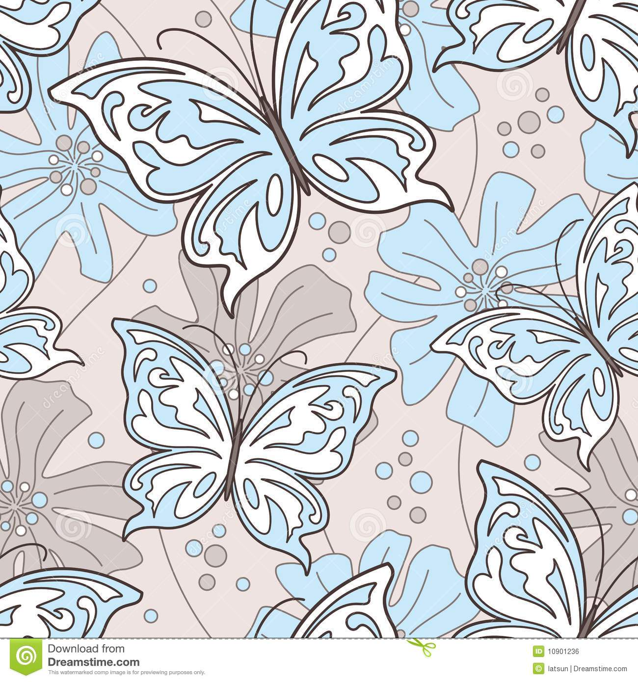 Seamless Butterfly Background Stock Vector Illustration Of