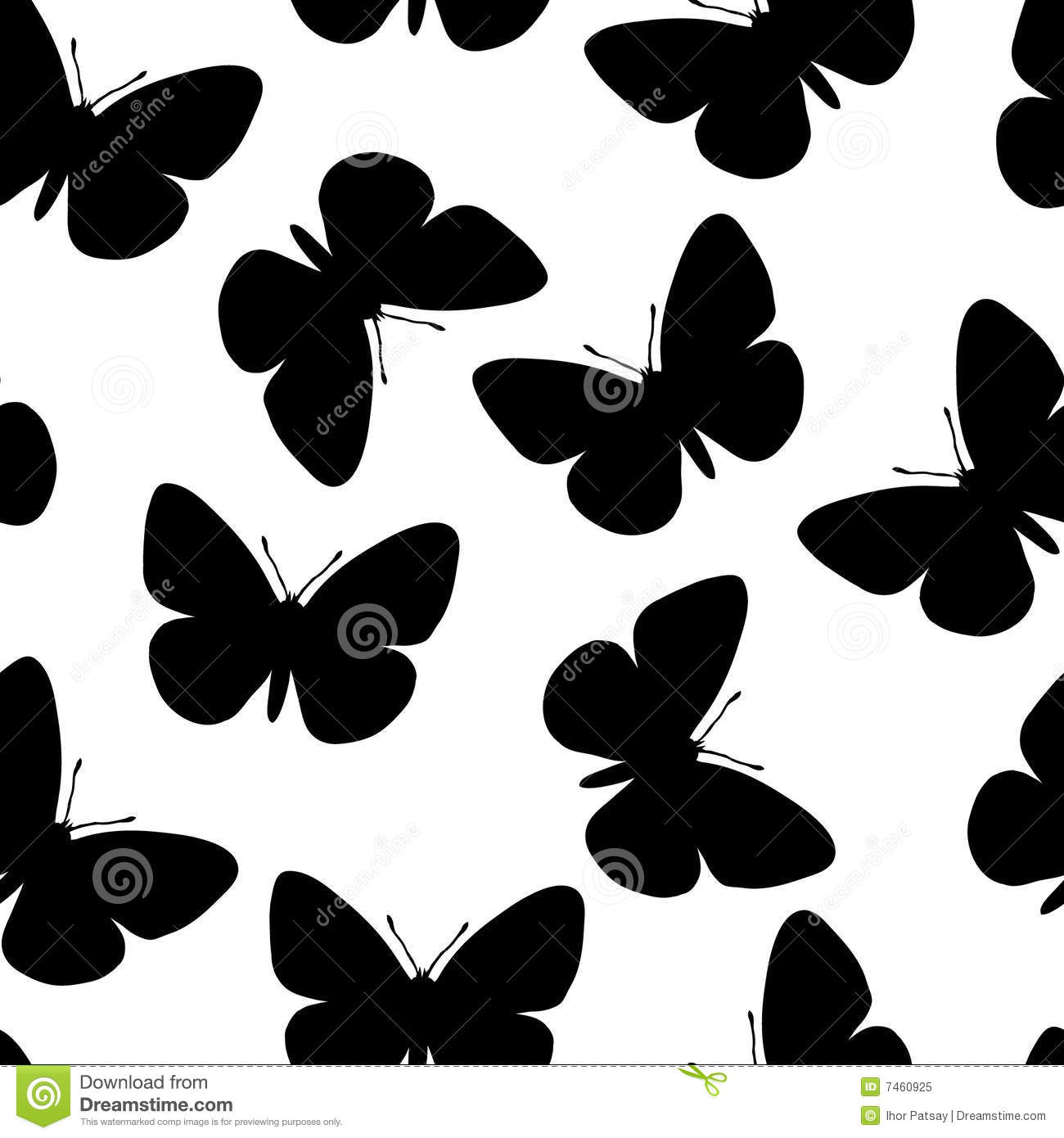 seamless butterfly pattern royalty free stock photo image 7460925