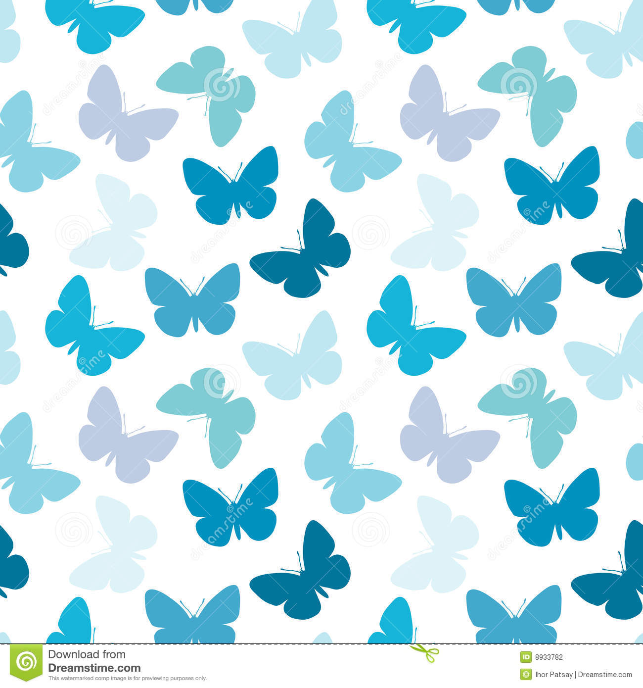 seamless butterfly pattern stock photography image 8933782