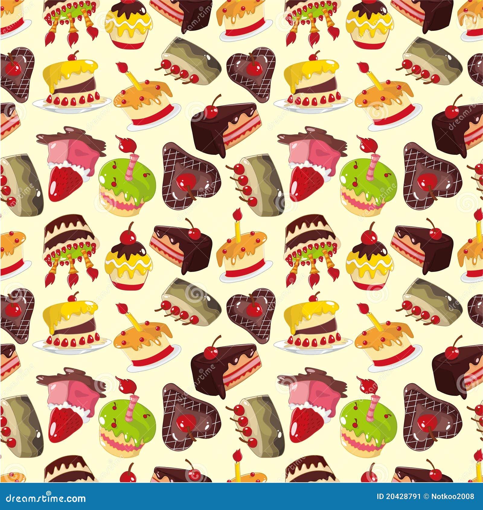 Seamless Cake Pattern Stock Image Image 20428791