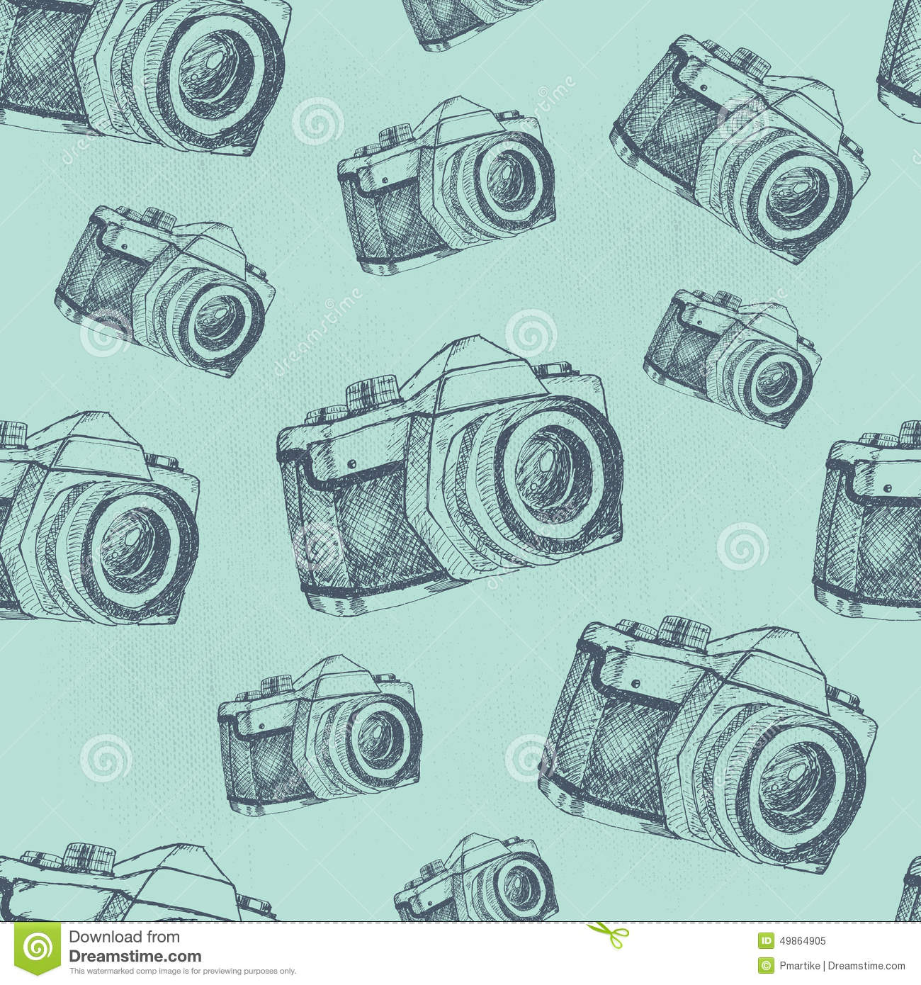 Seamless Camera Pattern Stock Vector Illustration Of Graphic
