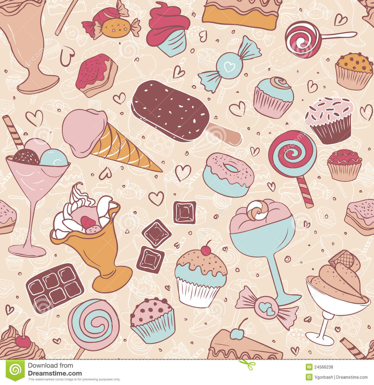 Seamless Candy Pattern...