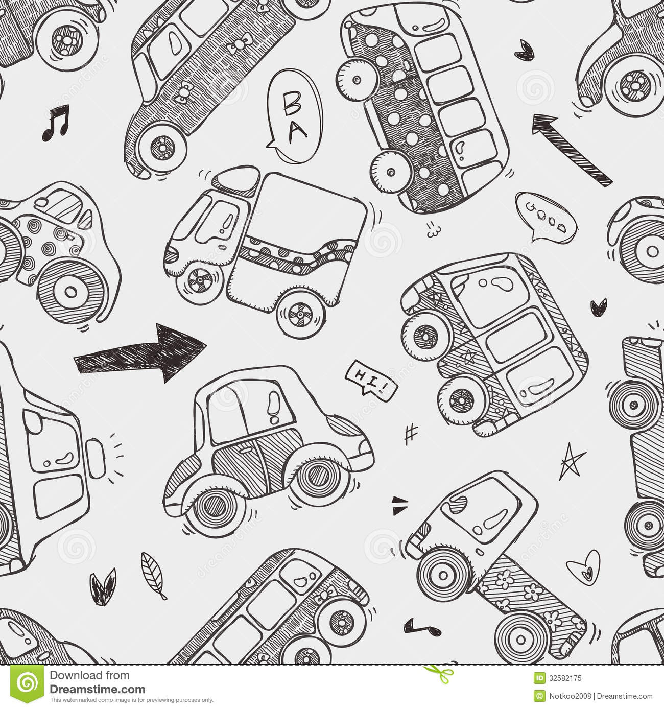 seamless car pattern stock vector illustration of seamless 32582175
