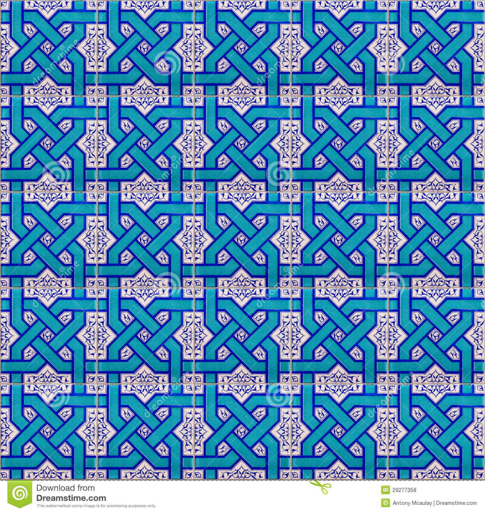 Seamless Ceramic Islamic Tiles Stock Photo Image 29277358