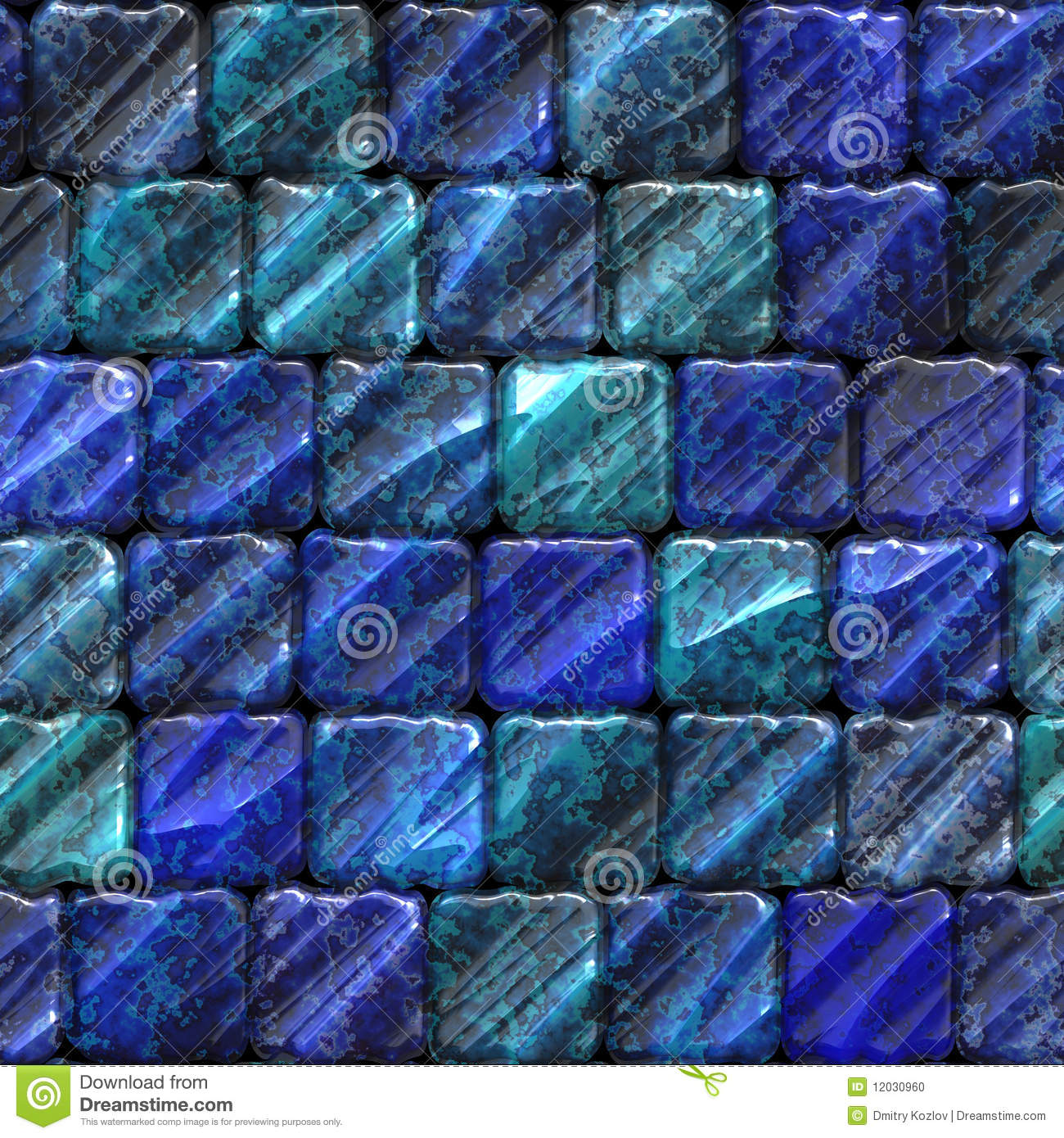 Seamless Ceramic Tile Bathroom Or Pool Texture Stock Photo