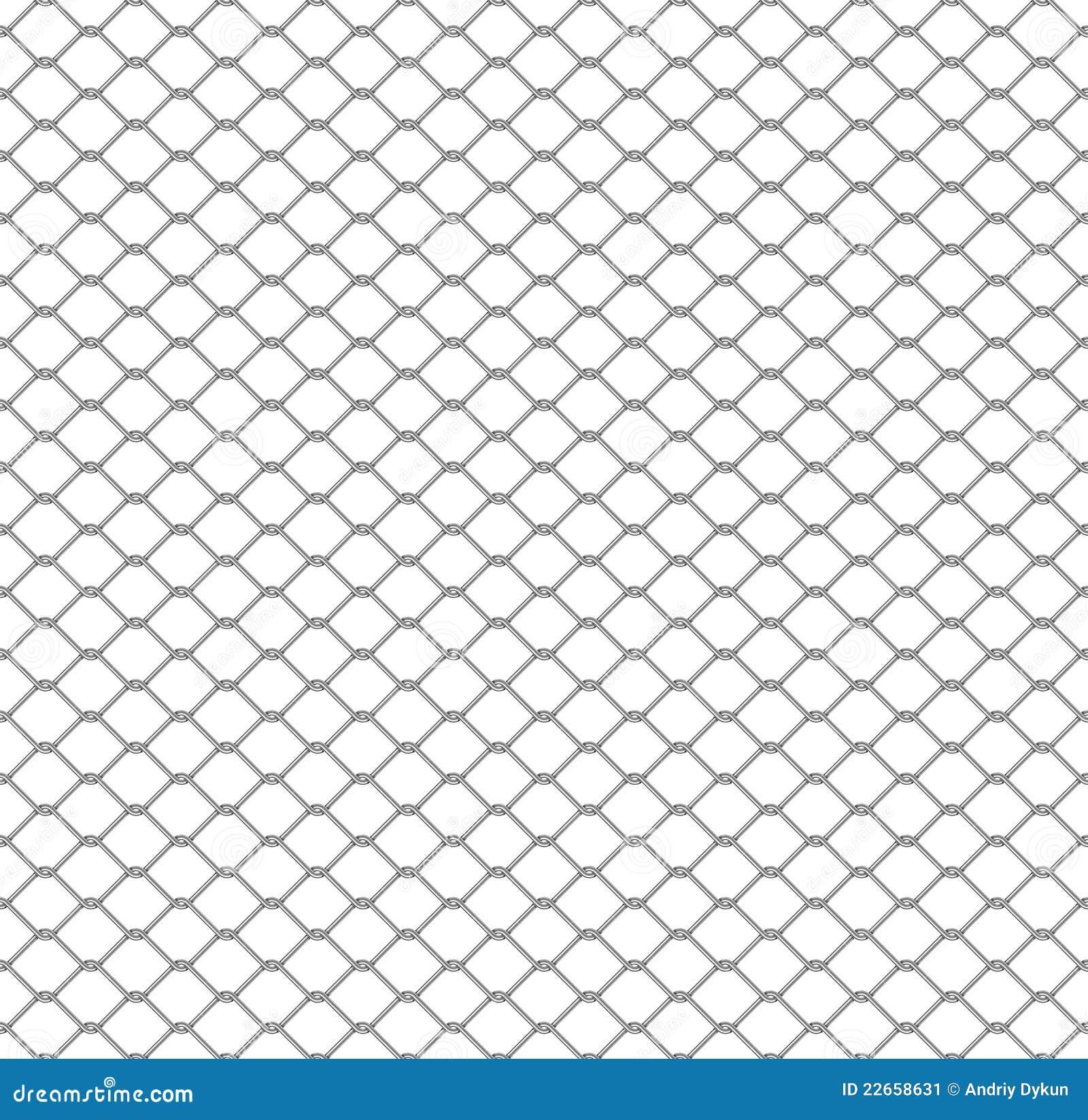 Seamless chain link fence stock illustration  Illustration