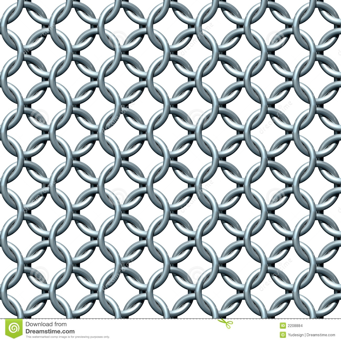 3D rendered seamless chainmail texture (ortho rendering).
