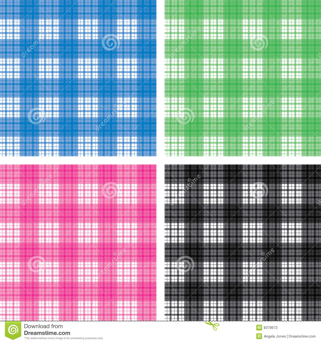 Seamless checked pattern set. Design is seamless and will tile ...
