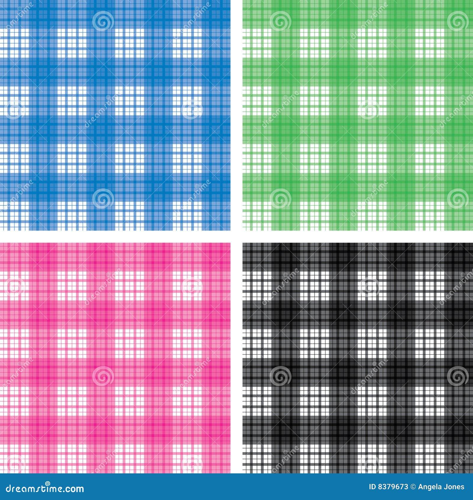 Seamless Checked Pattern Set Stock Photos Image 8379673
