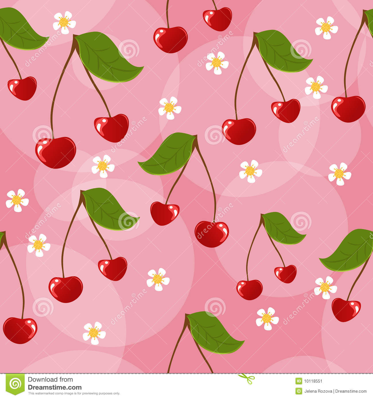Seamless Cherry Background Stock Image Image 10118551