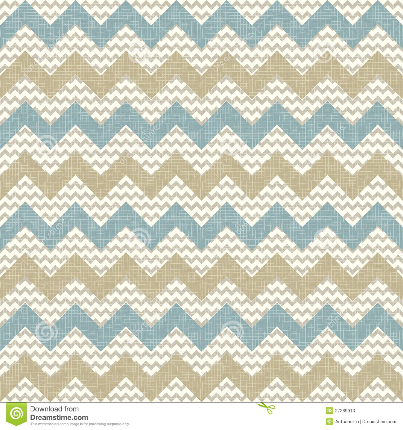 Seamless Chevron Pattern On Linen Texture Stock Vector