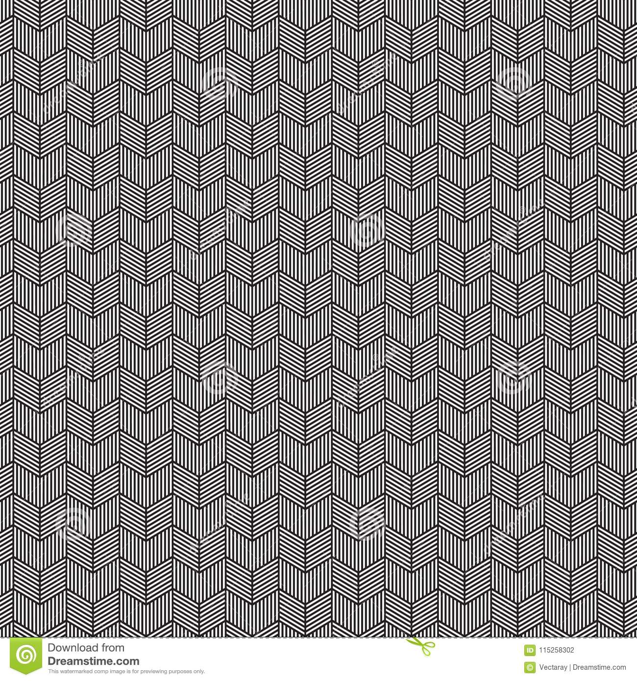 Seamless Chevron Pattern Texture, Etched With Parallel Line