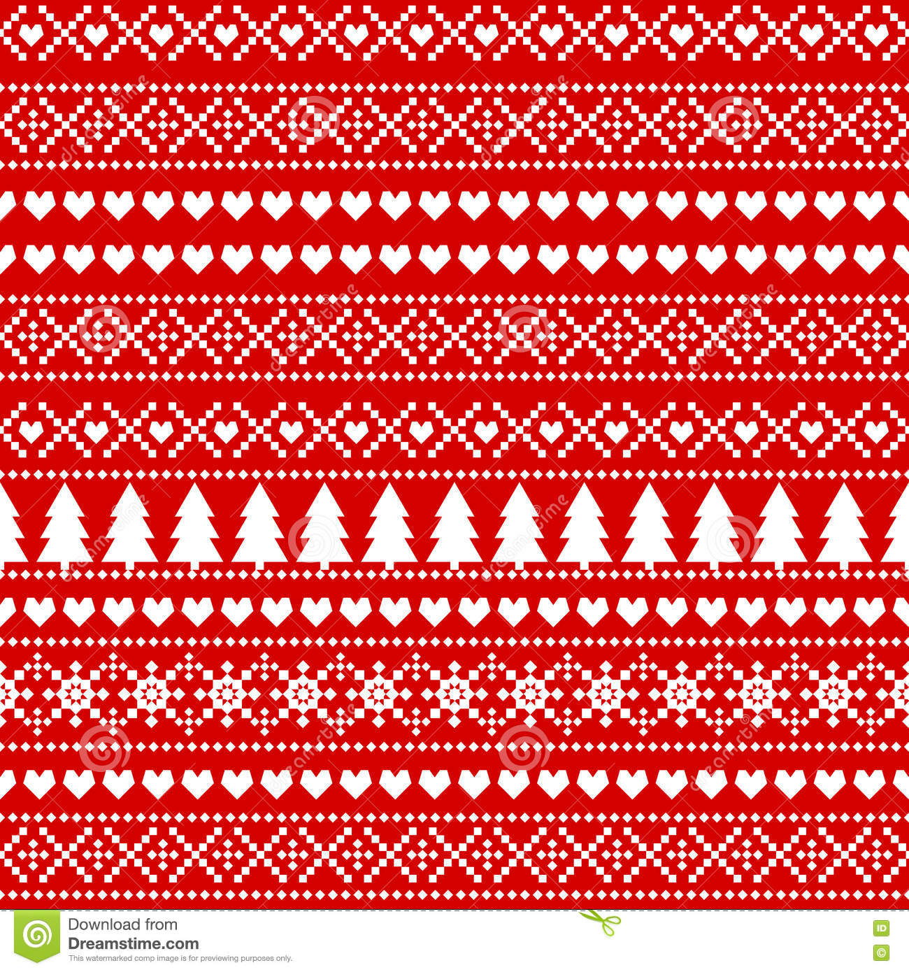 Seamless Christmas Background, Card - Scandinavian Sweater ...