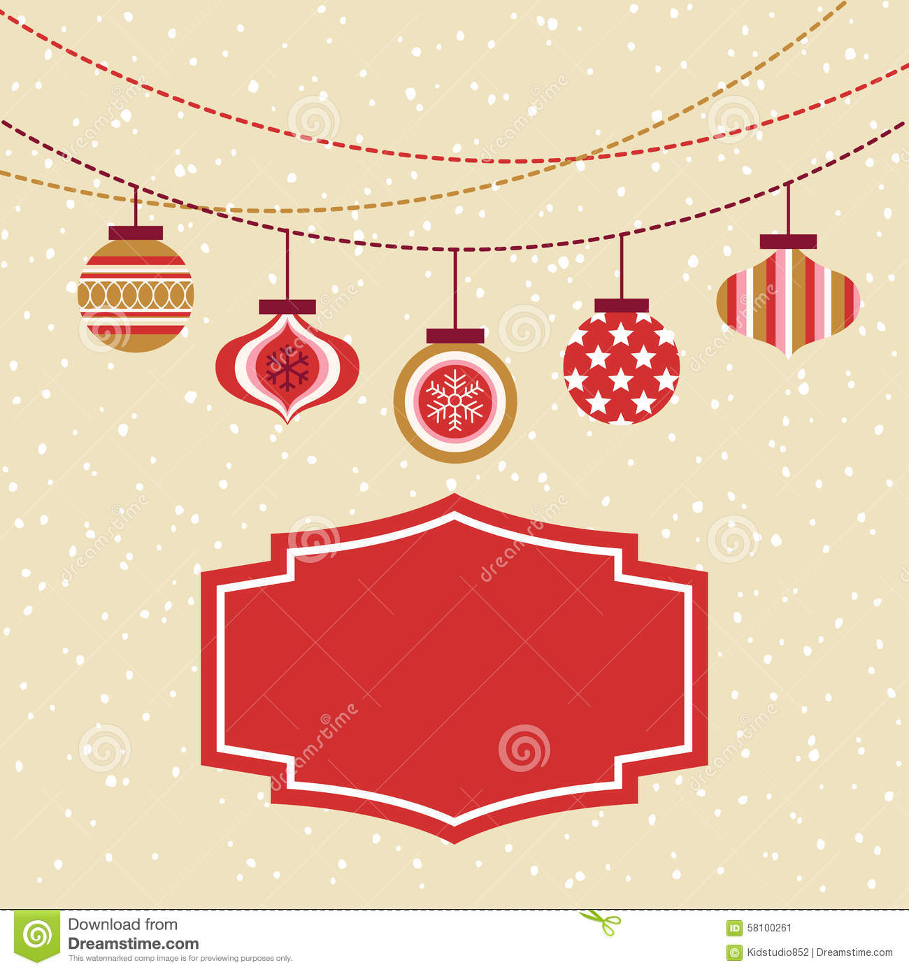 Seamless Christmas Ornament Balls Background Stock Vector ...