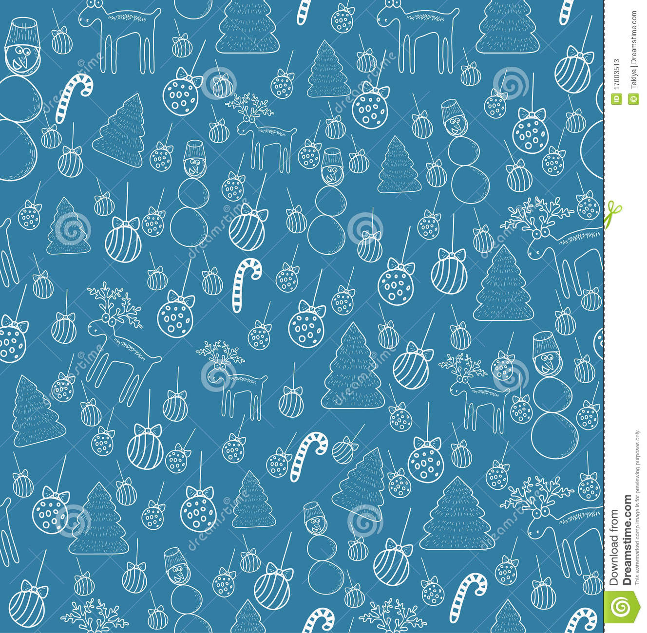 Seamless Christmas Pattern. Stock Photos - Image: 17003513