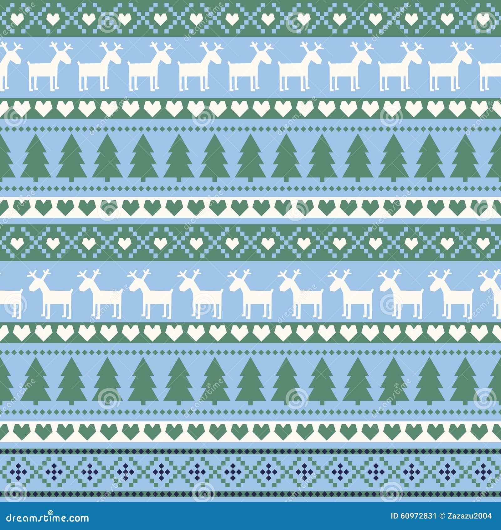 seamless christmas pattern card scandinavian sweater