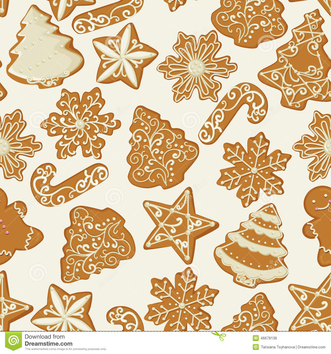 Ginger Cake Patterns And Designs