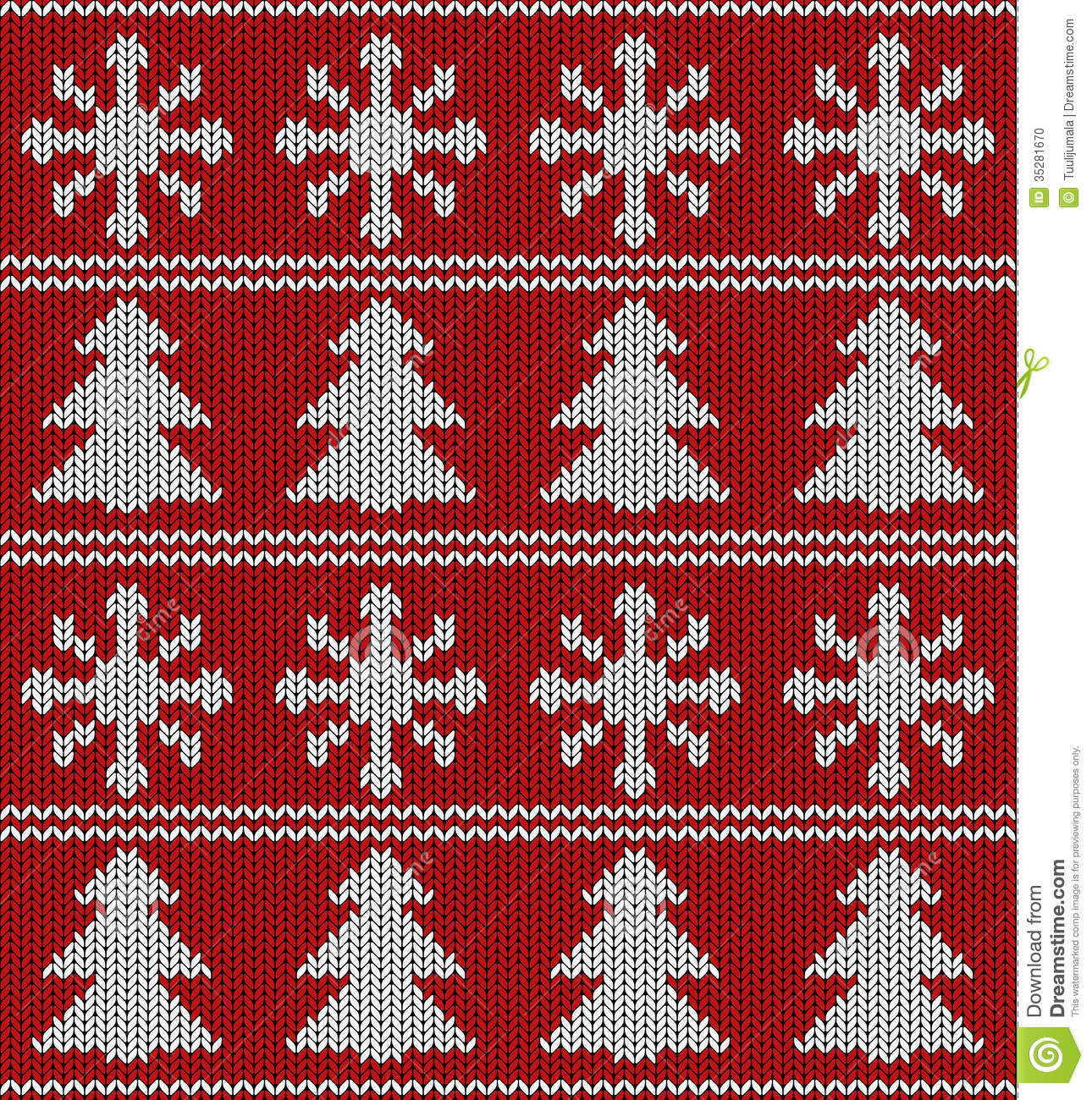 Knitting Vector Patterns : Seamless christmas pattern stock vector image of handmade