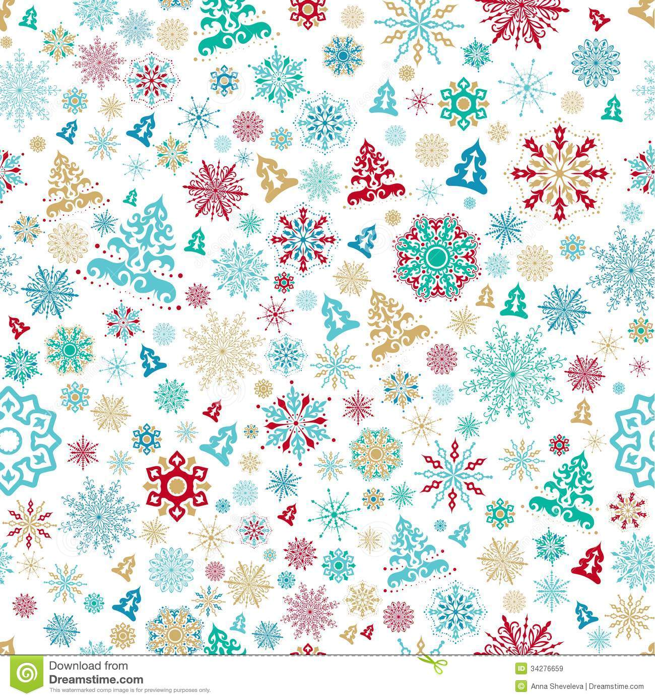 Seamless Christmas Pattern Royalty Free Stock Images - Image: 34276659