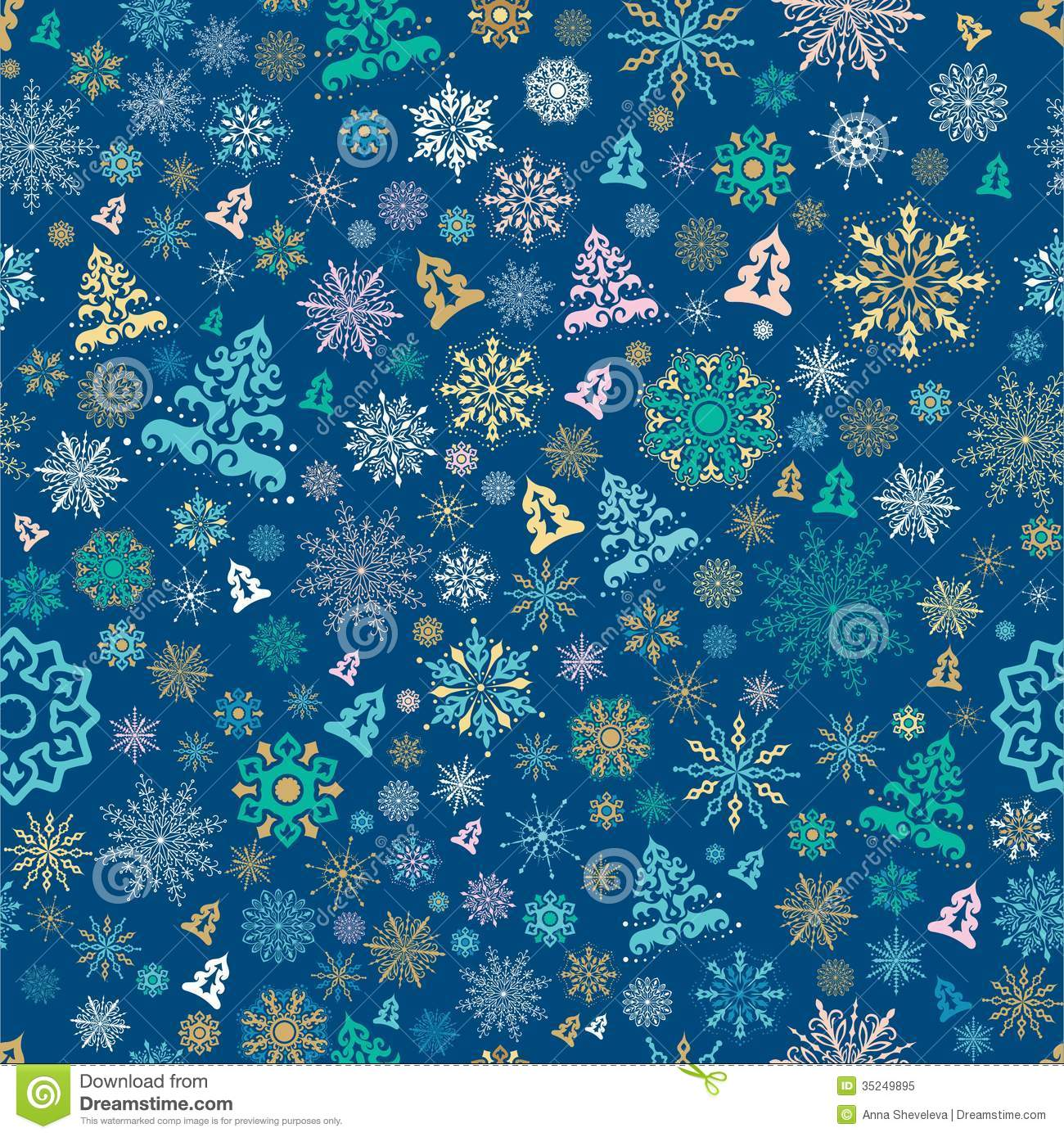 Christmas Gift Background: Seamless Christmas Pattern Stock Vector. Illustration Of