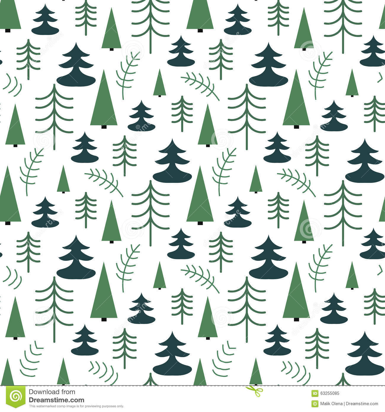 graphic regarding Printable Christmas Wrapping Paper named Seamless Xmas Routine With Trees. Suitable For Wrapping