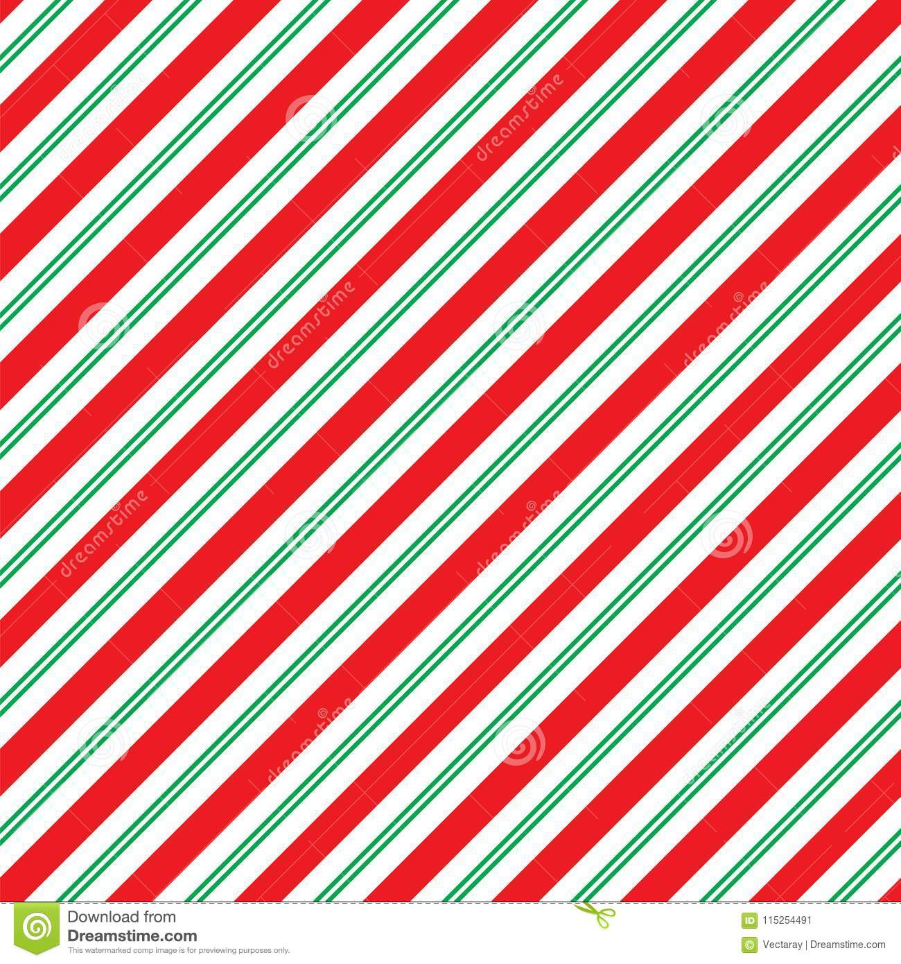 seamless christmas stripe wrapping paper pattern stock illustration