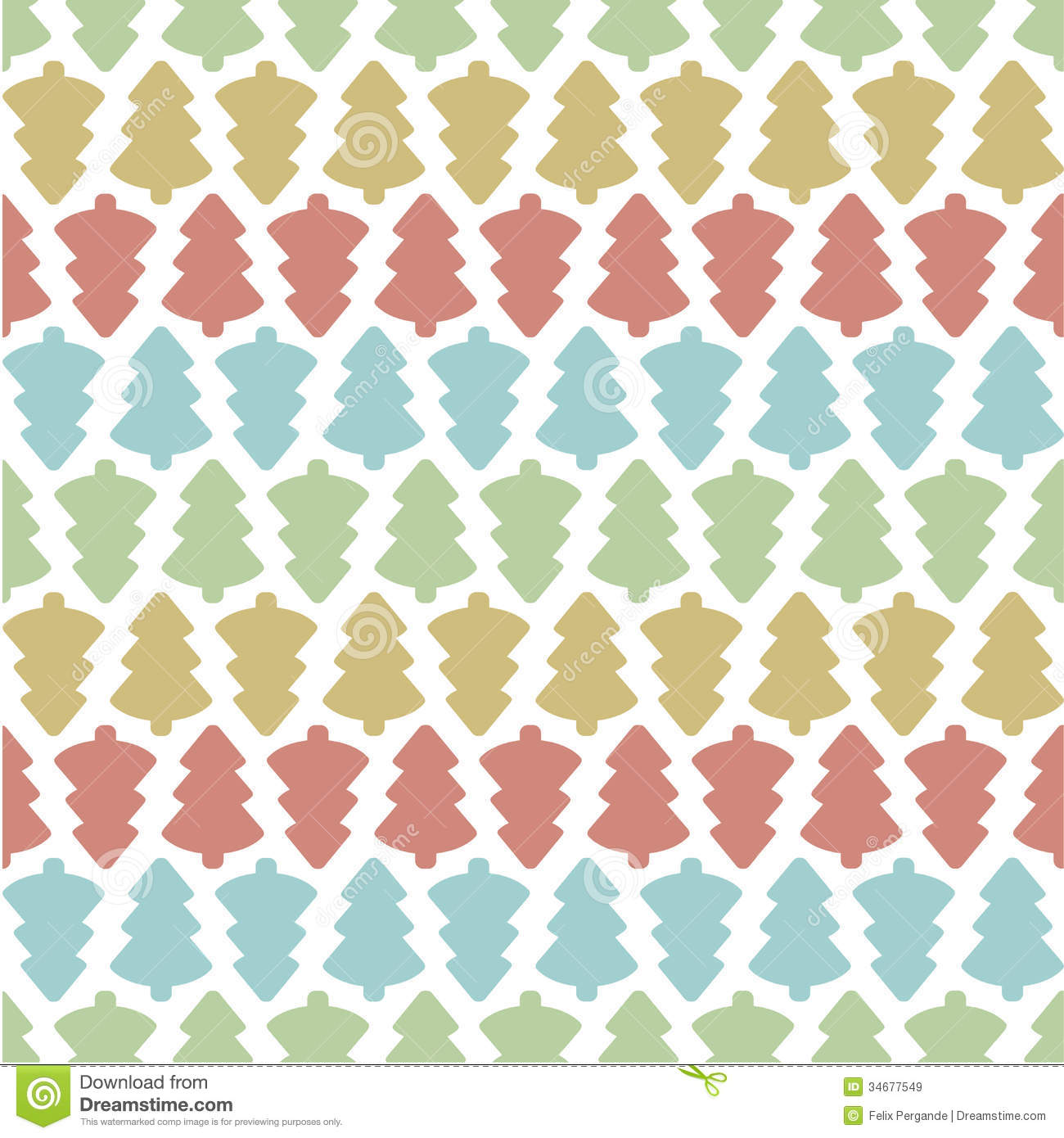 Seamless Christmas Tree Pattern Royalty Free Stock Images - Image ...