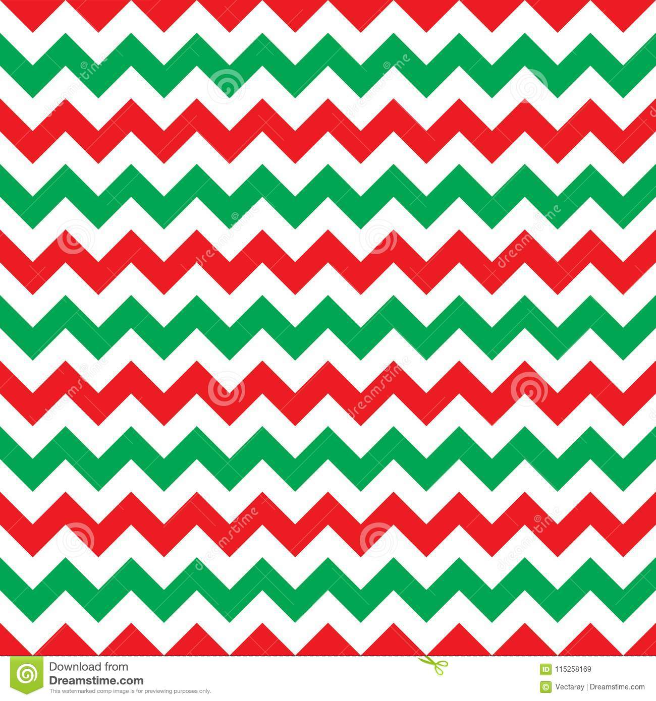 Seamless Christmas Wrapping Paper Chevron Pattern Background Texture