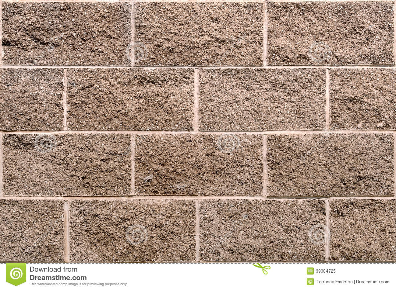 Seamless Block Wall : Seamless cinderblock wall background stock photo image