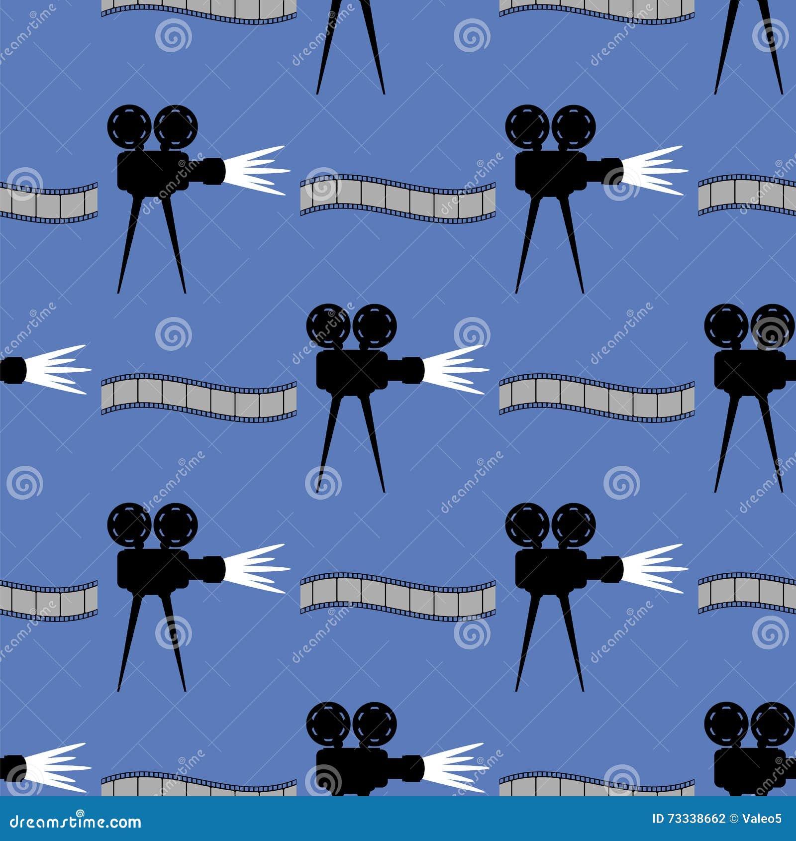 Seamless Cinema Pattern  Film Strip Background Stock Vector