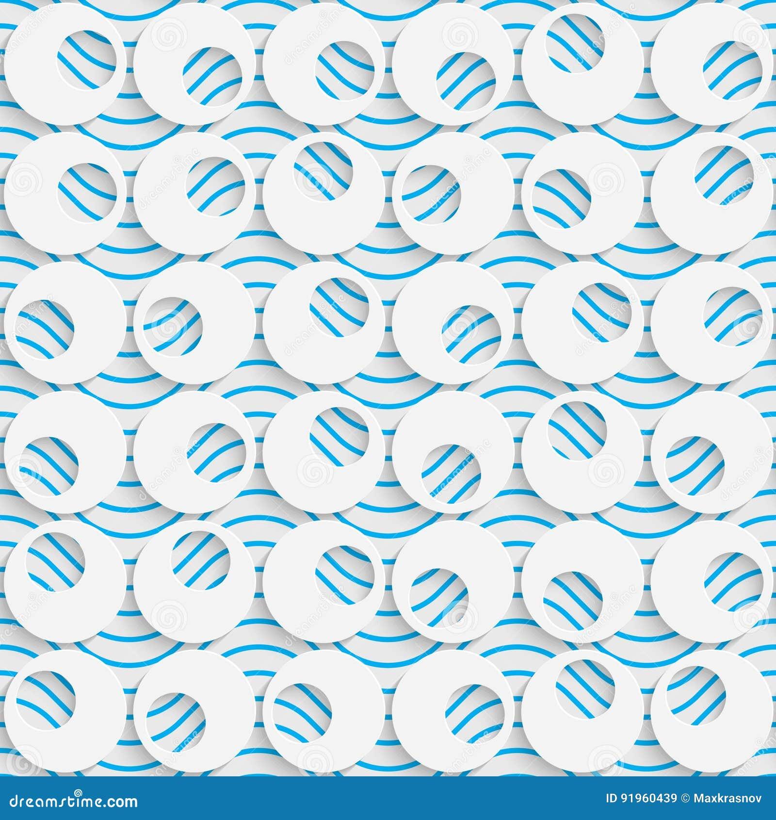 Seamless Circle Design. Futuristic Tile Pattern Stock Vector ...