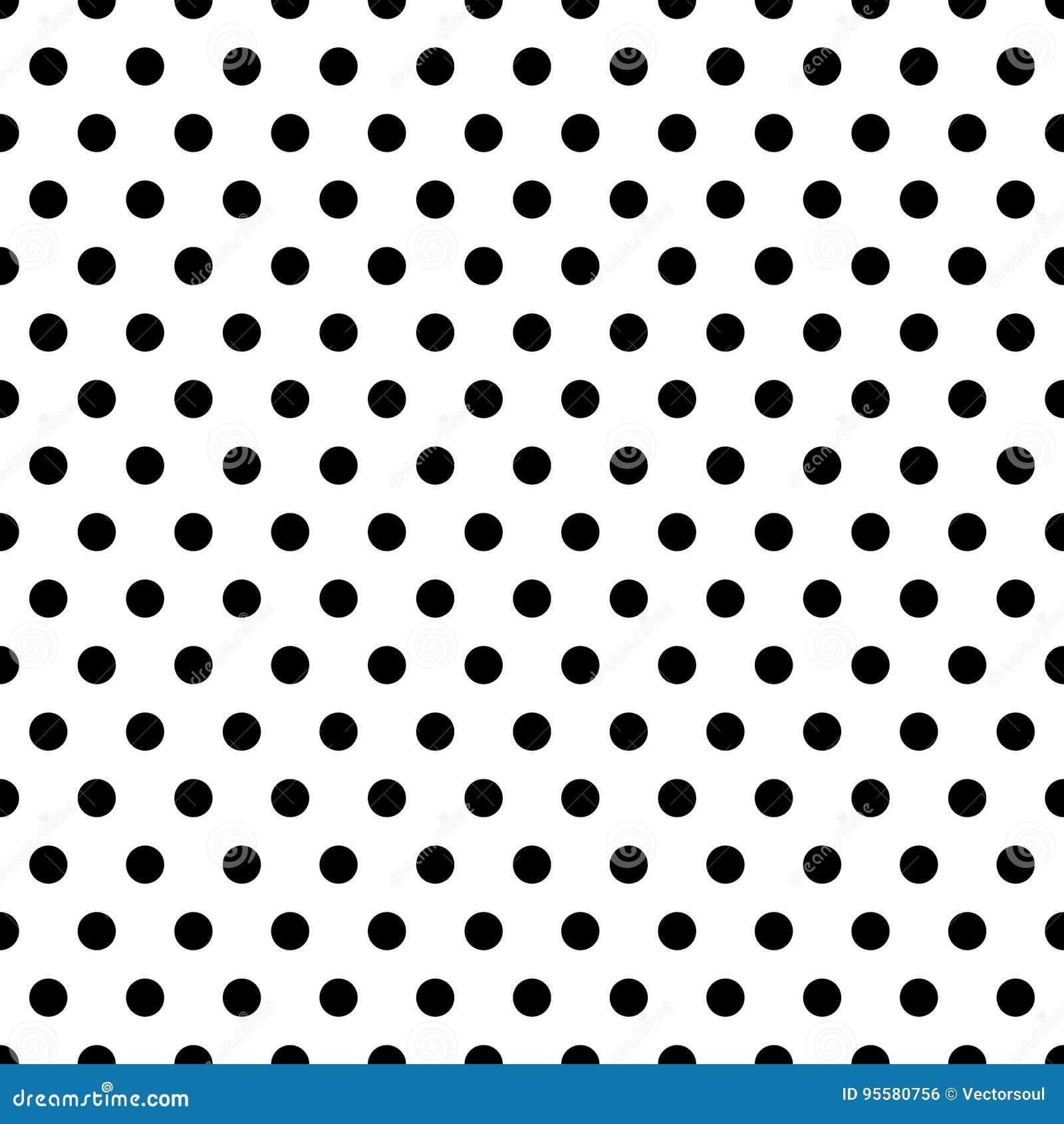 Seamless Circles Dots Pattern Seamlessly Repeatable Polka Dot