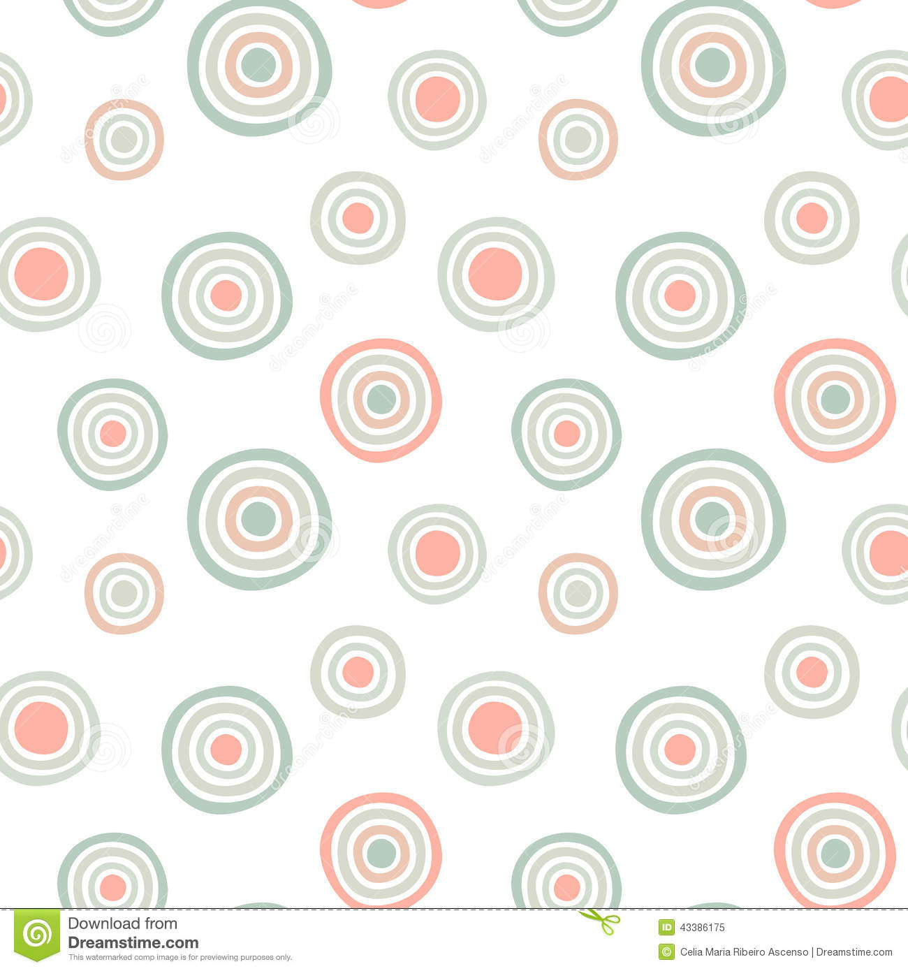 Seamless Circles Pattern Background Stock Illustration