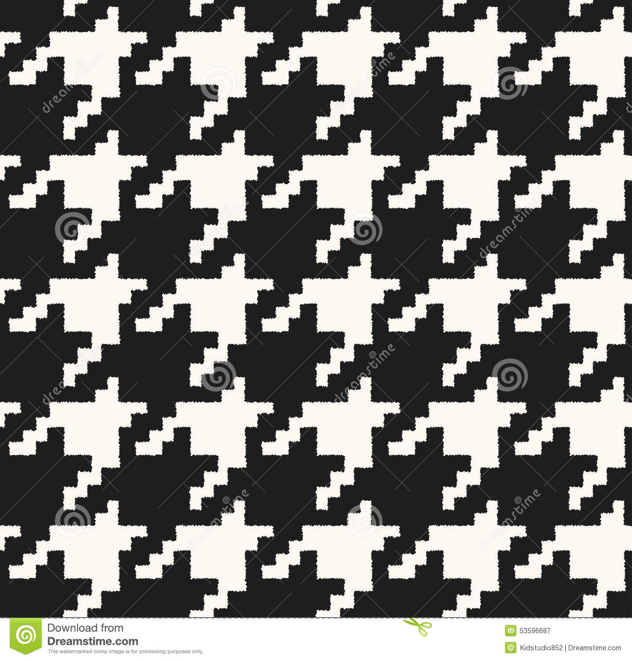 Seamless black and white checkered texture stock images image - Checkered Classic Fabric Pattern Seamless