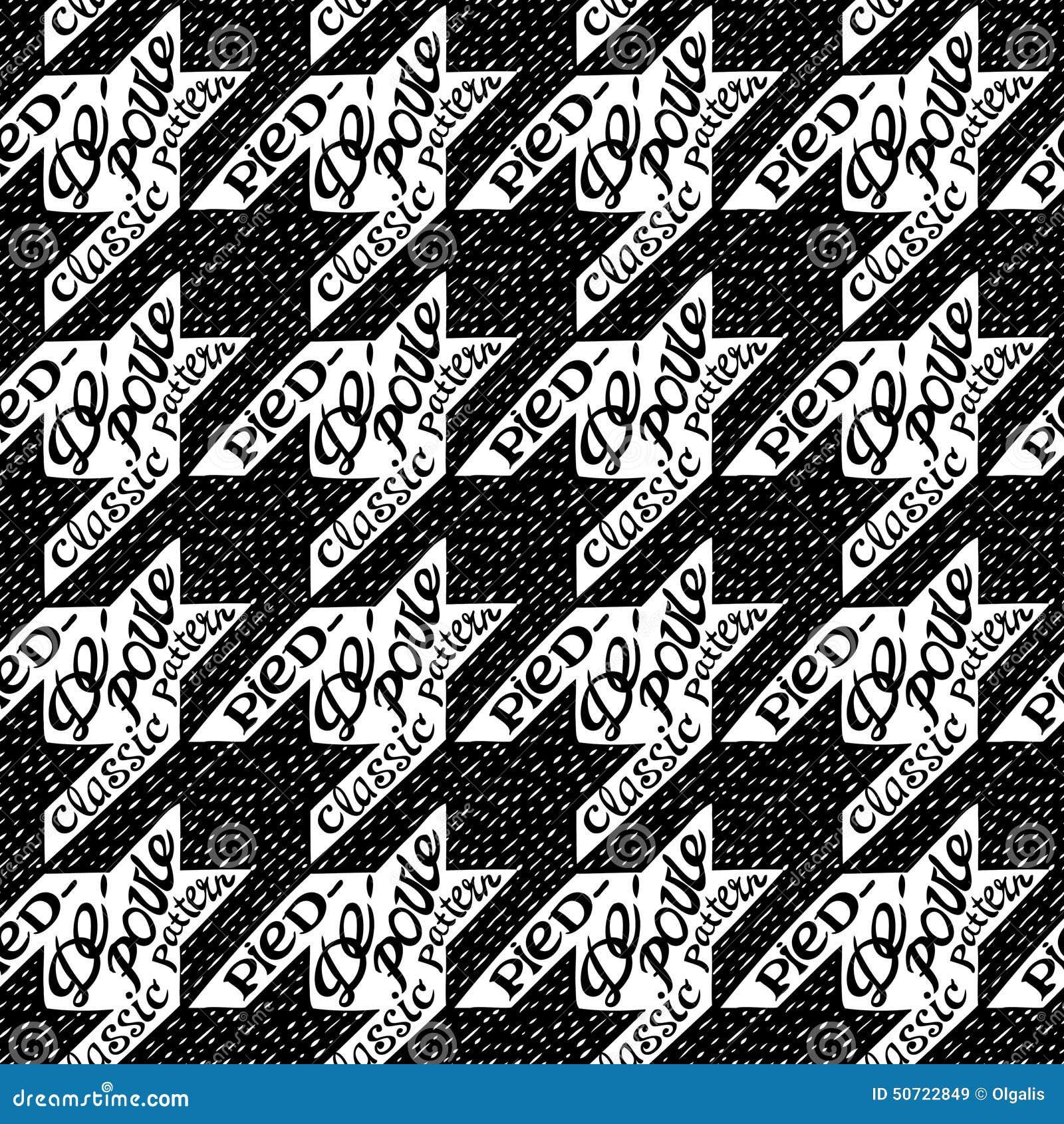 Seamless classic fabric houndstooth pied de poule pattern stock vector ima - Pied de coq pied de poule ...
