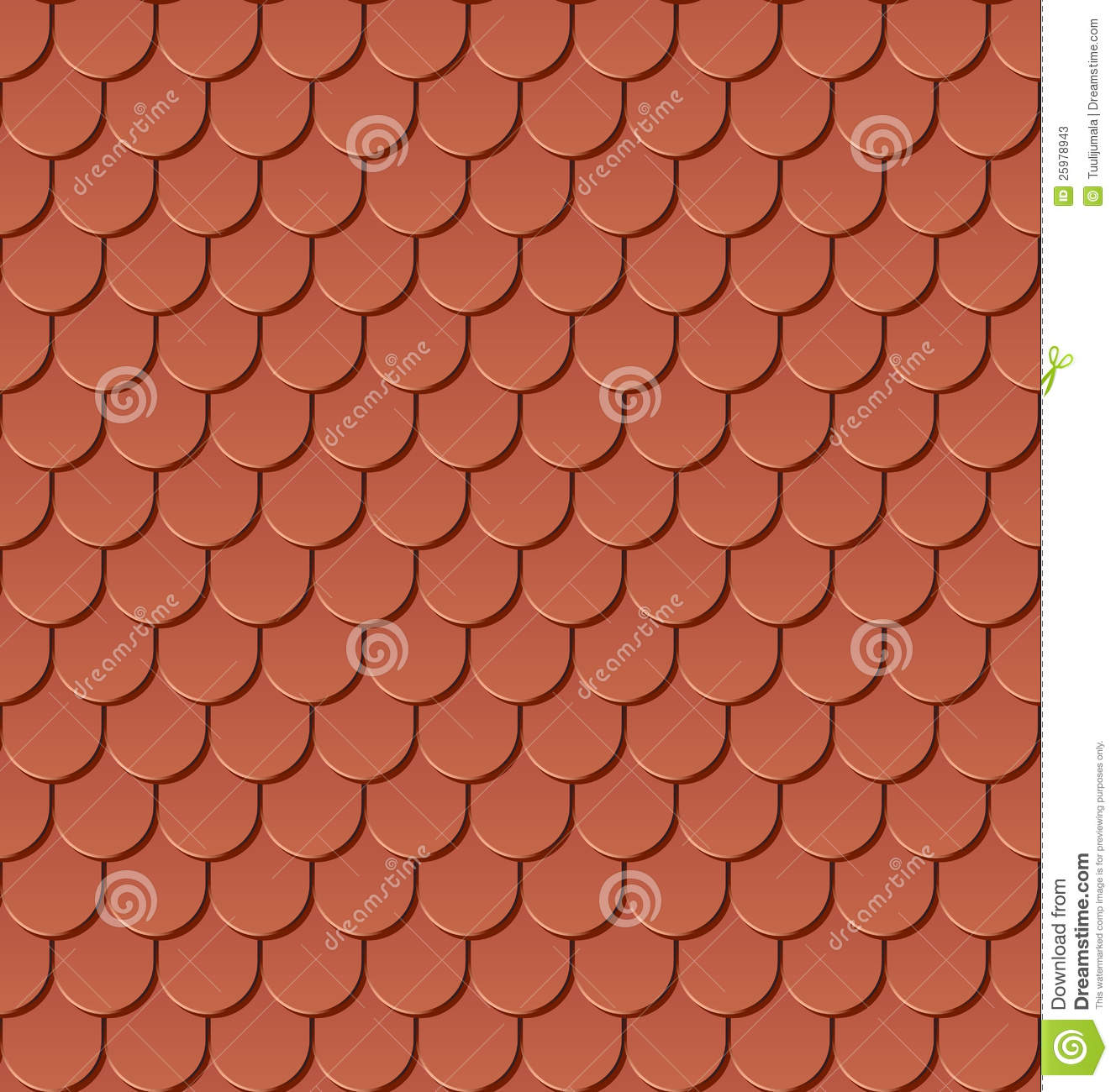 Seamless Clay Roof Tiles Stock Vector Image Of Background