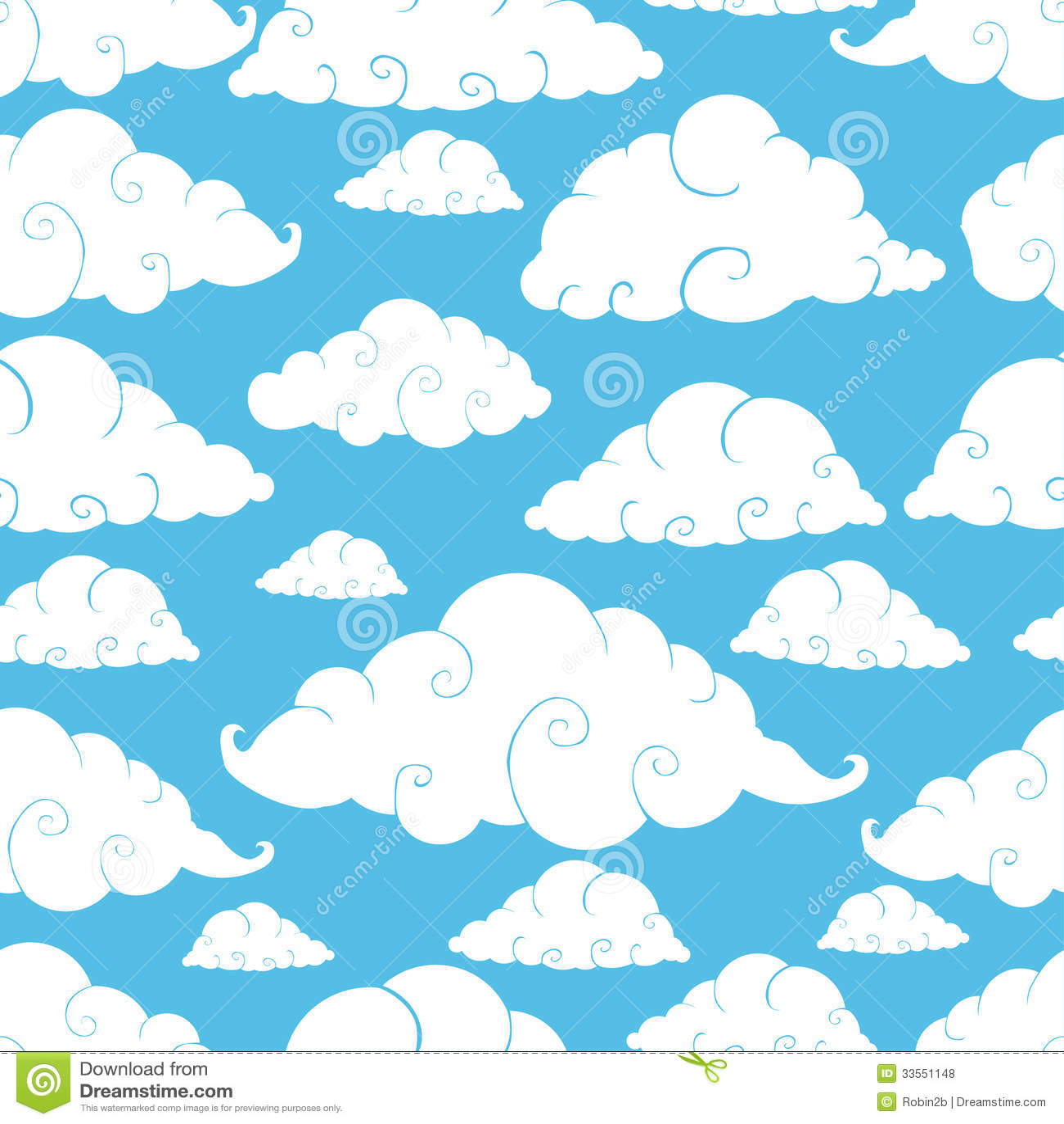 Seamless cloud pattern stock vector  Illustration of