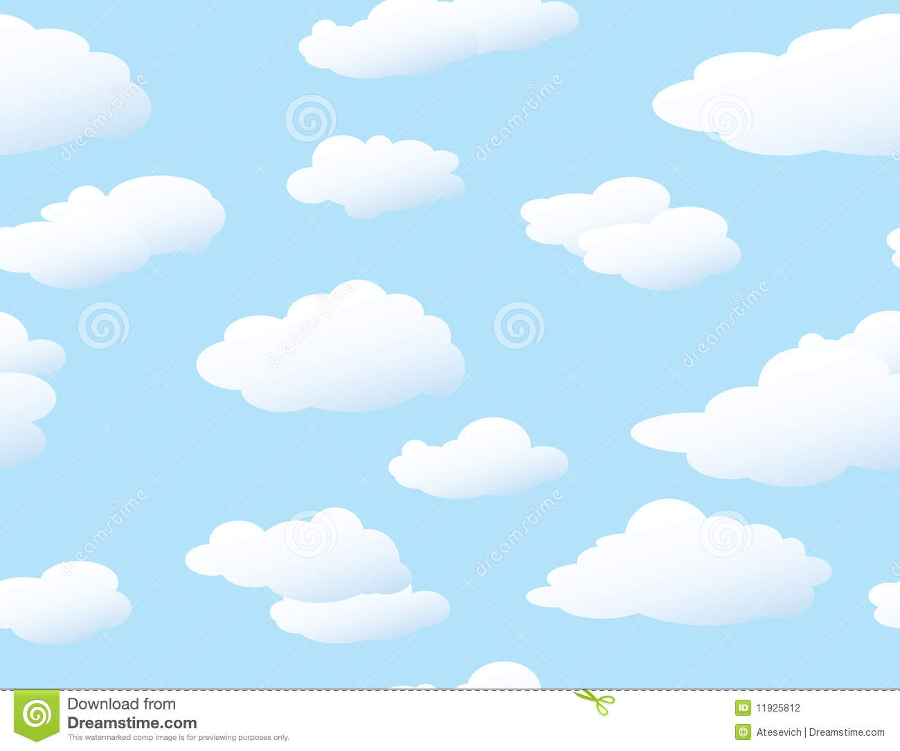 Seamless Cloud Background Royalty Free Stock Image Image 5989806 in Clouds Background Clipart