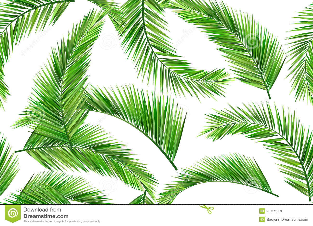 Seamless coconut leaves stock vector. Image of vector ...