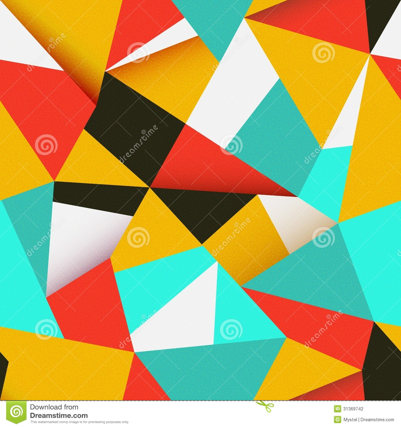 Seamless colorful abstract retro background stock photography image