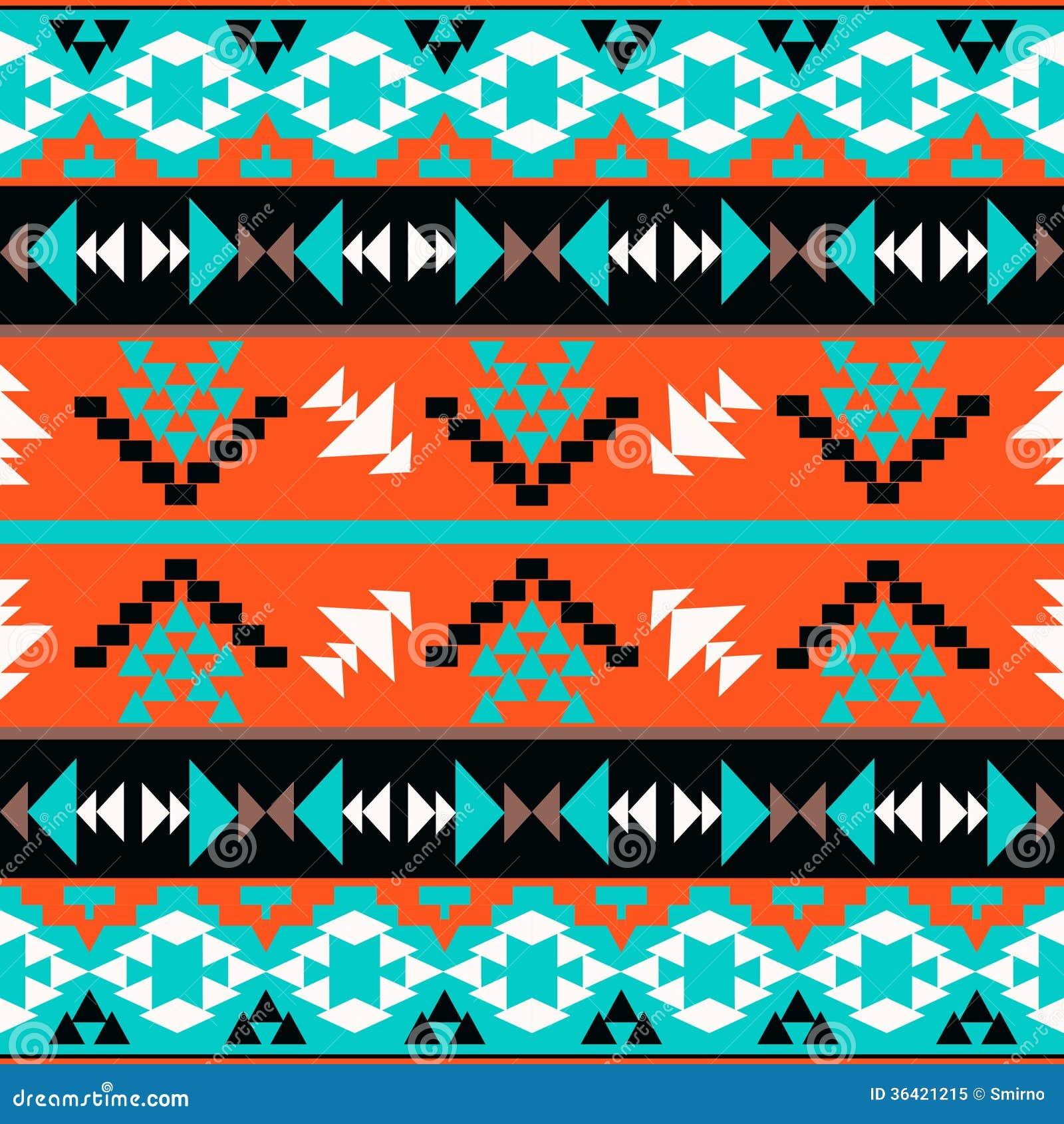 Seamless colorful aztec pattern