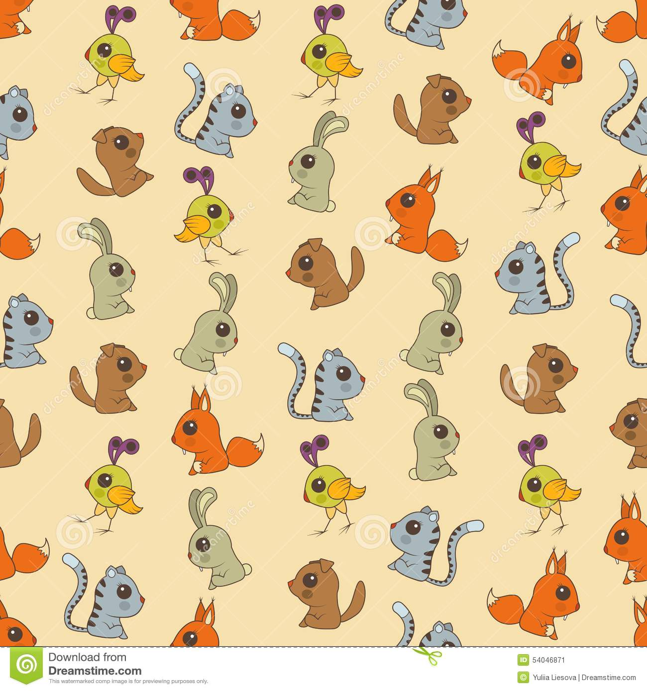 Seamless colorful background made of cartoons of cute baby anim seamless colorful background made of cartoons of cute baby anim voltagebd Images
