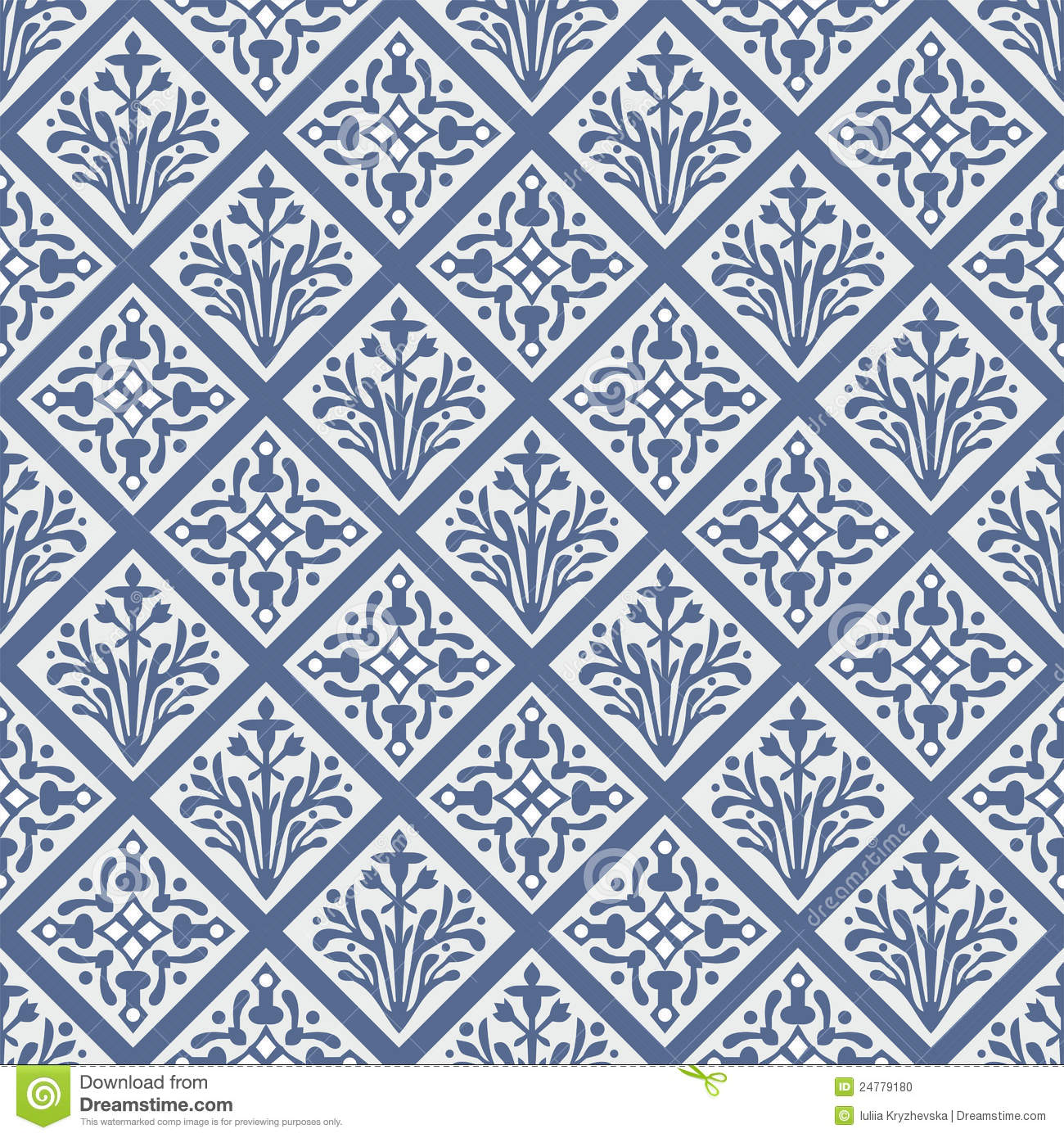 Seamless Colorful Gothic Vector Floral Pattern Stock Photo - Image ...