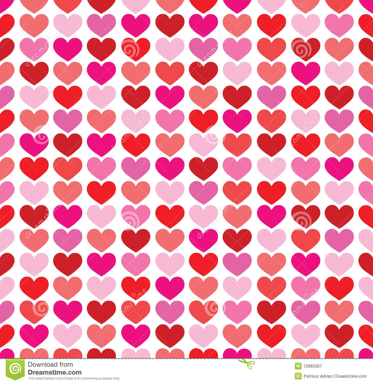 Seamless Colorful Hearts Background Royalty Free Stock ...