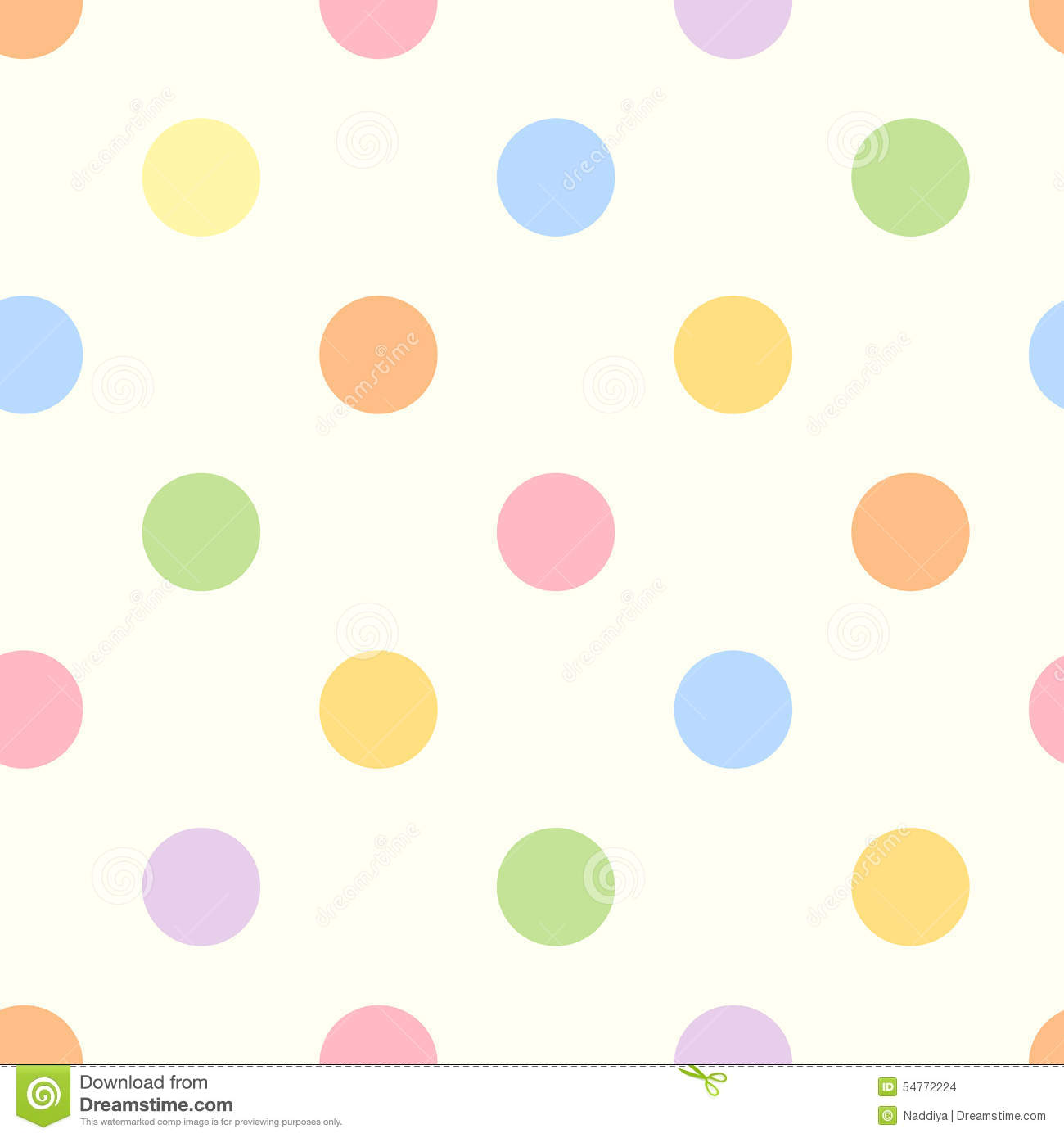 Seamless Colorful Polka Dot Pattern. Stock Vector - Image ...