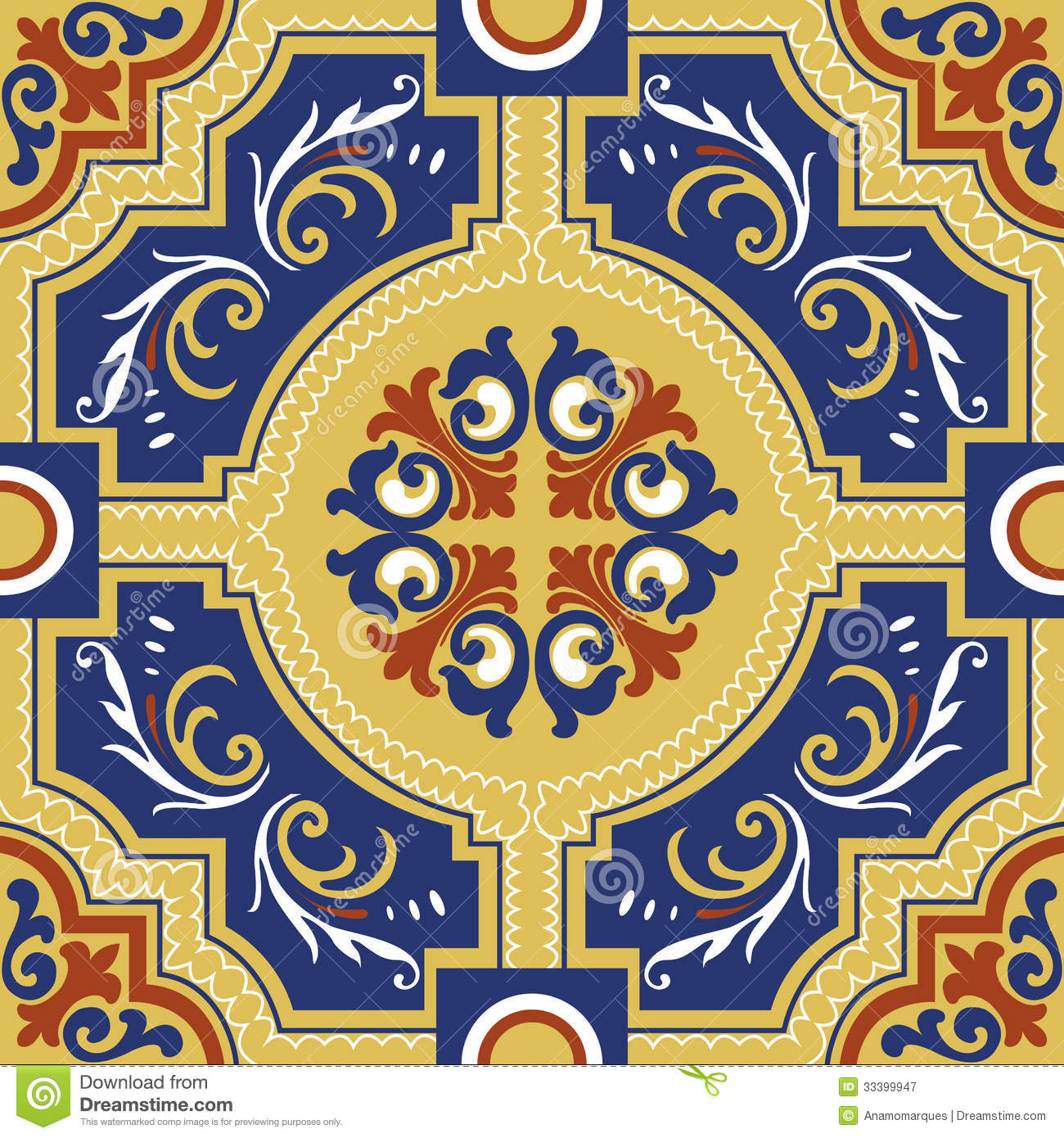 seamless colourful ornament tiles royalty free stock Free Business Card Design Templates Blank Flag Business Card Layout