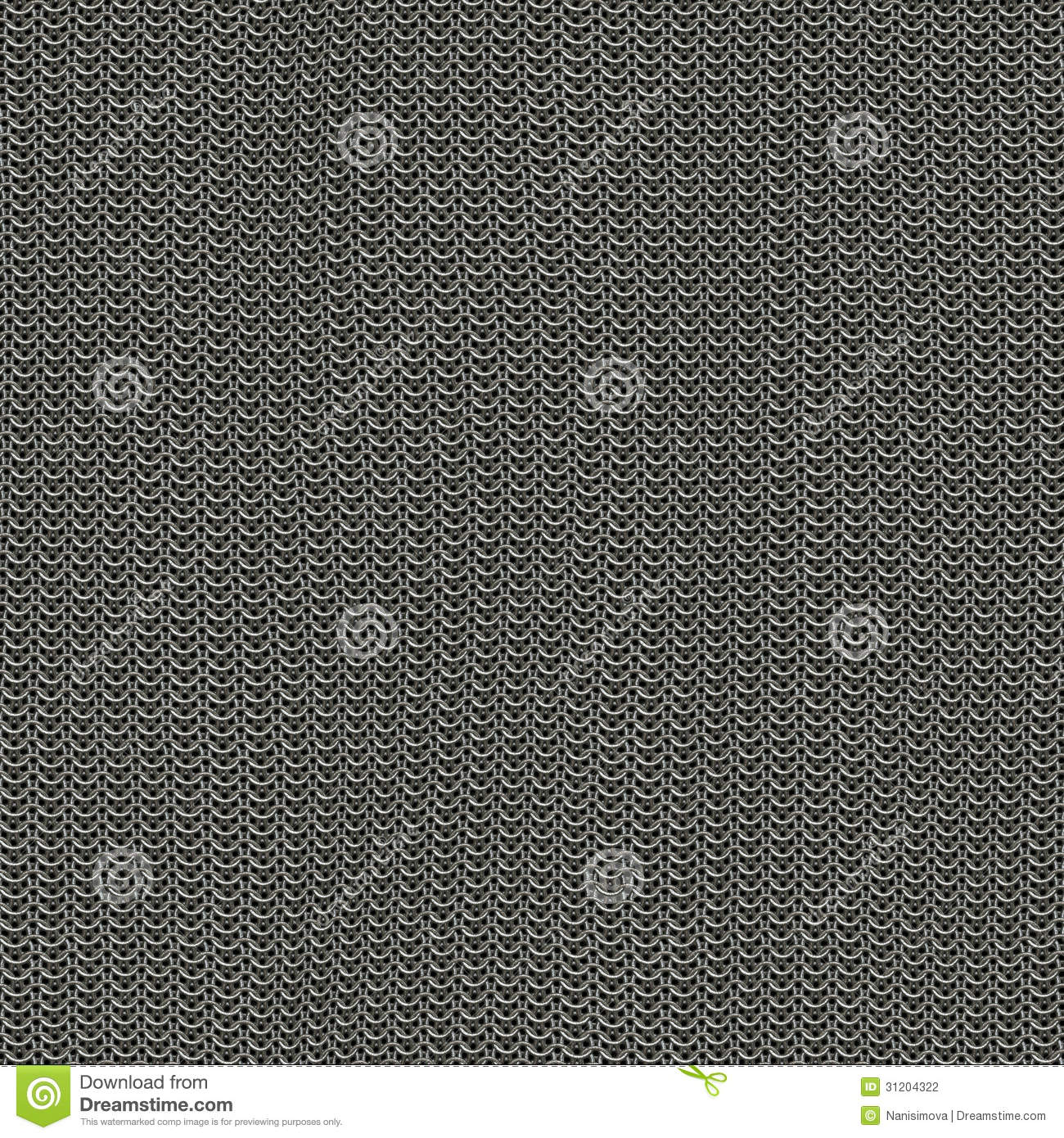 seamless computer generated metal chain mail texture not