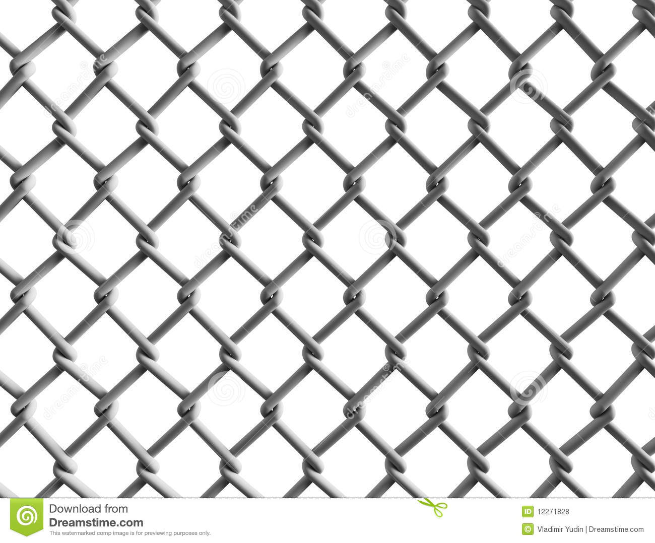 Seamless chain fence background with shadow vector