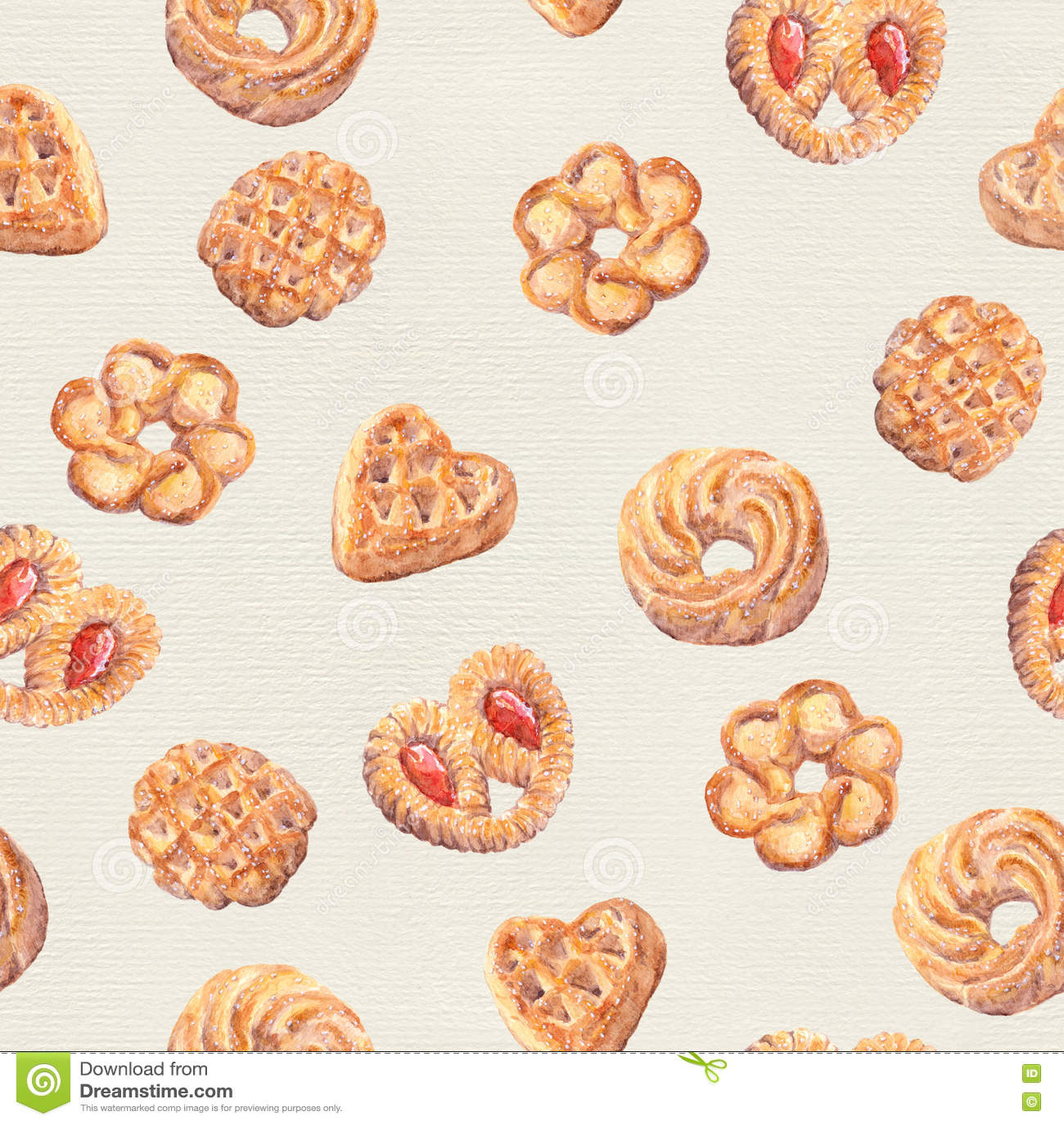 Seamless Cookies Wallpaper Baking Food Design Stock Illustration Image 74327457