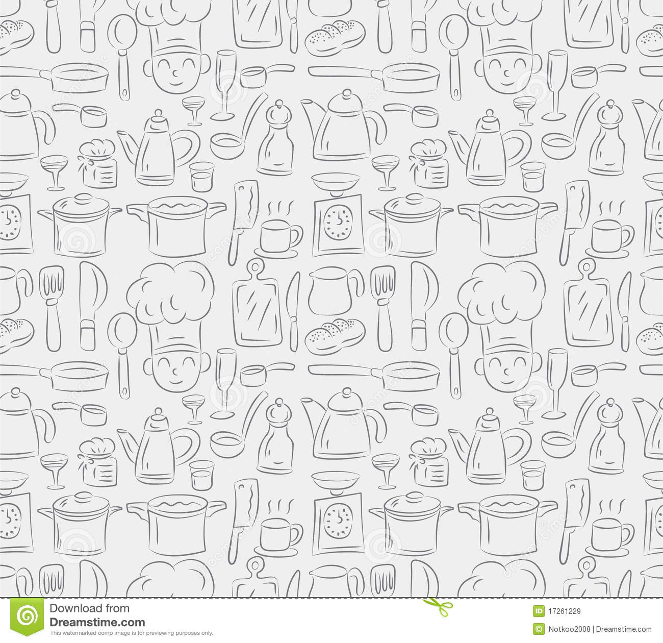 Seamless Cooking Pattern Royalty Free Stock Images Image